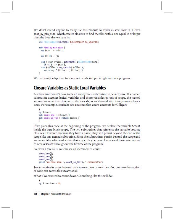 Syntax Coloring In Intermediate Perl PDF